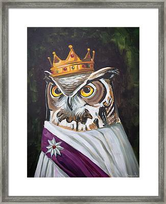 Le Royal Owl Framed Print