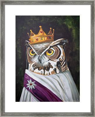 Le Royal Owl Framed Print
