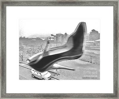 Flying Stiletto Framed Print by Don Pedro De Gracia
