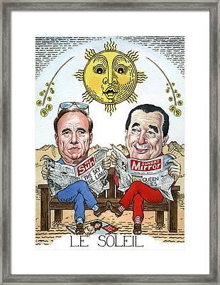 Le Soliel Framed Print by Debbie  Diamond
