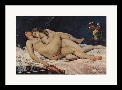 Gustave Courbet Framed Prints