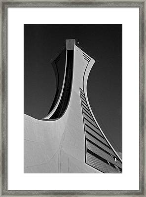 Le Stade Olympique De Montreal Framed Print by Juergen Weiss