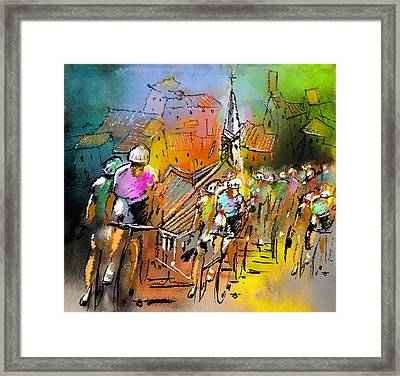Le Tour De France 04 Framed Print by Miki De Goodaboom