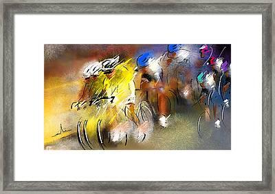 Le Tour De France 05 Framed Print by Miki De Goodaboom