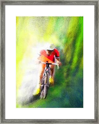 Le Tour De France 12 Framed Print by Miki De Goodaboom