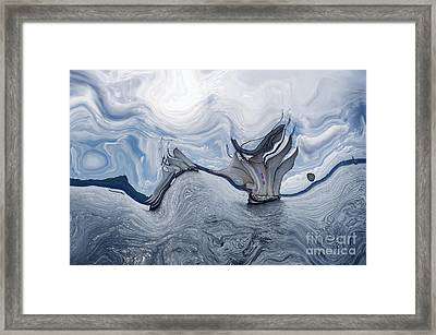 Le Vent Dans Les Voiles - 06bl - Sea Boat Series Framed Print by Variance Collections