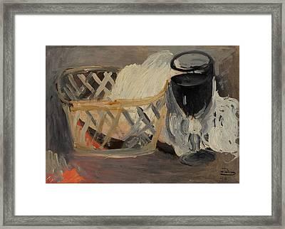 Le Verre Noir Framed Print by Mountain Dreams