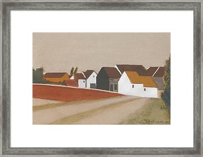 Le Village Derrire Le Bassin Framed Print by Spilliaert