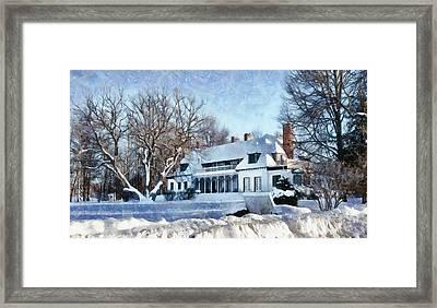 Leacock Museum In Winter Framed Print