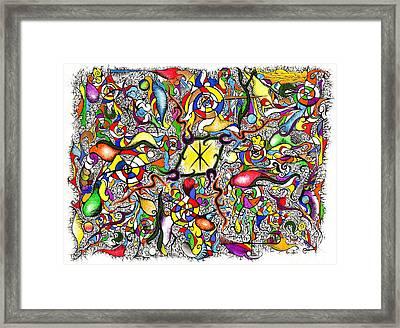Lead Salad Framed Print by Nathaniel Hoffman