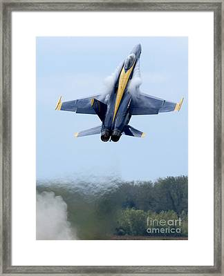 Lead Solo Pilot Of The Blue Angels Framed Print by Stocktrek Images