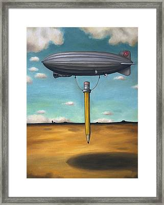 Lead Zeppelin Framed Print by Leah Saulnier The Painting Maniac