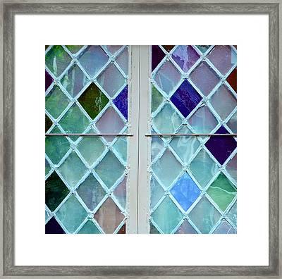 Leaded Glass Framed Print