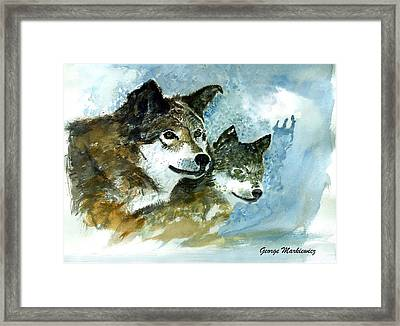 Leader Of The Pack Framed Print by George Markiewicz