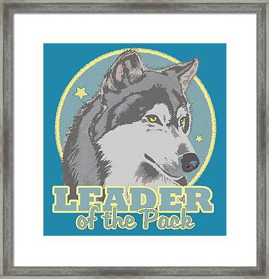 Leader Of The Pack Framed Print
