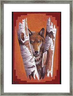 Leader Wolf Framed Print by Billie Bowles
