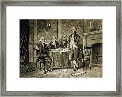 Leaders Of The First Continental Congress Framed Print by Augustus Tholey