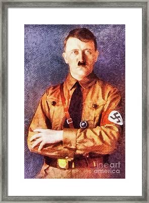 Leaders Of Wwii, Adolf Hitler, Germany Framed Print