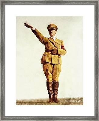 Leaders Of Wwii - Adolf Hitler Framed Print