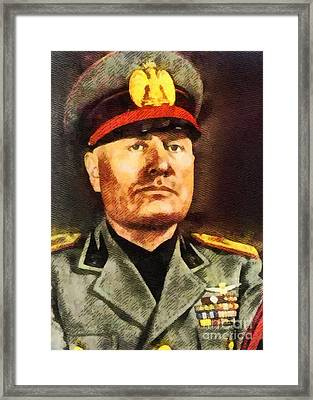 Leaders Of Wwii - Benito Mussolini Framed Print