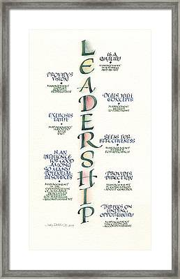 Leadership Framed Print by Judy Dodds