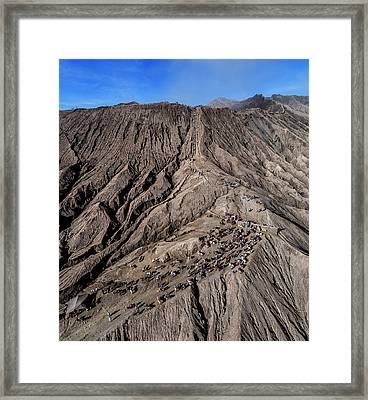 Framed Print featuring the photograph Leading To The Volcano Crater by Pradeep Raja Prints