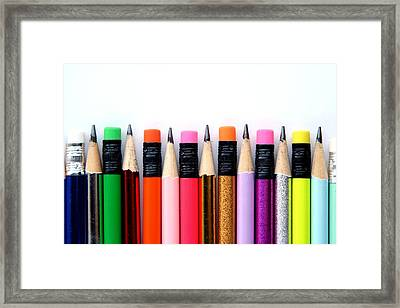 Leads And Erasers Framed Print