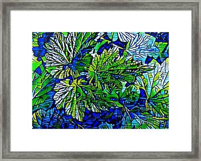Leaf Abstract. Framed Print