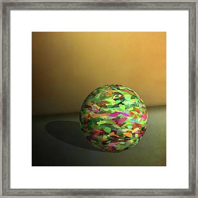 Leaf Ball -  Framed Print