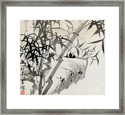 Leaf C Framed Print by Rang Tian