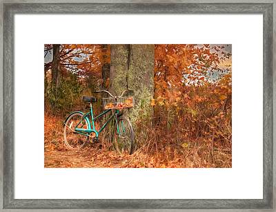 Leaf Catcher Framed Print by Lori Deiter