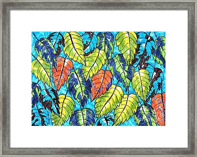 Patterned Leaves Framed Print
