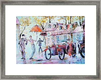 Leaf-fall Framed Print by Oleg  Poberezhnyi