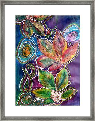 Leaf Fiesta Framed Print