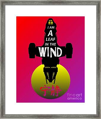 Leaf In The Wind Framed Print by Justin Moore