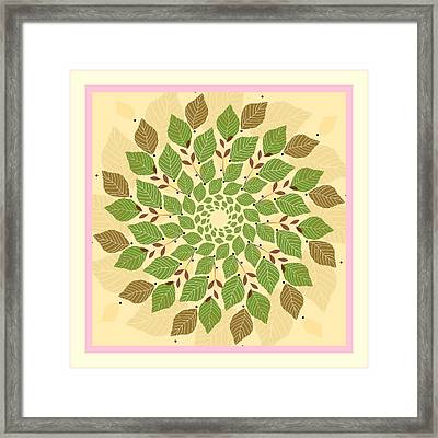 Leaf Mandala Framed Print by Rosemary Babikan