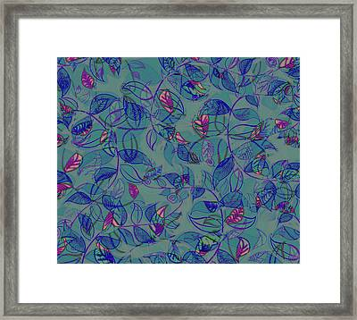 Framed Print featuring the painting Leaf Mesh by Linde Townsend
