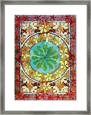 Leaf Motif 1901 Framed Print by Padre Art