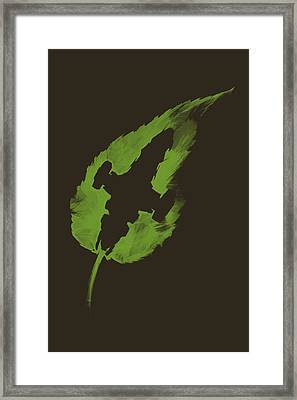 Leaf On The Wind Framed Print