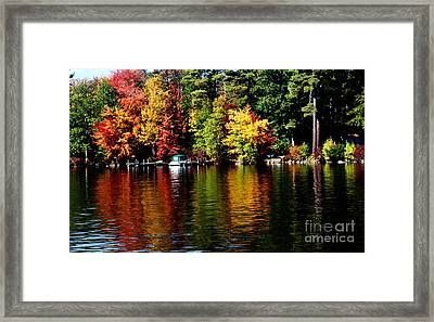 Leaf Peeping Framed Print
