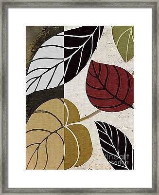 Leaf Story Framed Print by Mindy Sommers