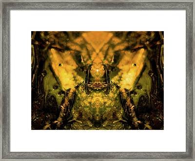 Leaf Water Worrior Framed Print