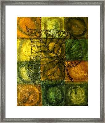 Leaf Whisper Framed Print by Leon Zernitsky