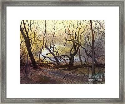 Framed Print featuring the painting Leafless Trees by Sergey Zhiboedov