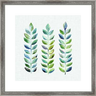 Framed Print featuring the mixed media Leafy Goodness by Kristian Gallagher