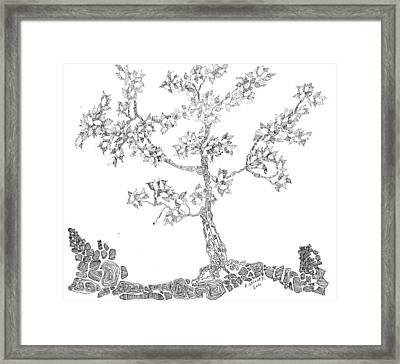 Leafy Jewels Framed Print