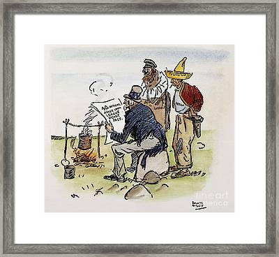 League Of Nations Cartoon Framed Print by Granger