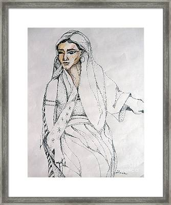 Leah Framed Print by Mindy Newman