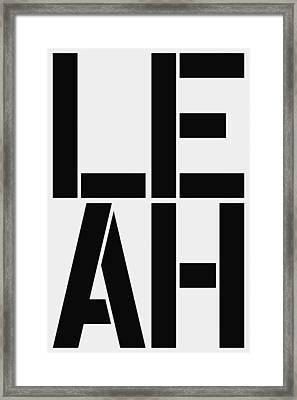 Leah Framed Print by Three Dots