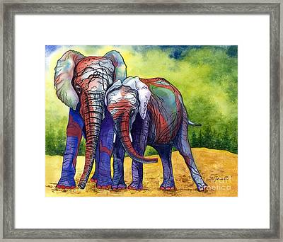 Lean On Me Framed Print by Barbara Jewell